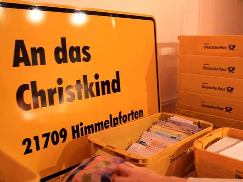 Schild an das Christkind